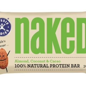 Aussie Bodies Naked Almond, Coconut & Cacao Bar 30g X 12