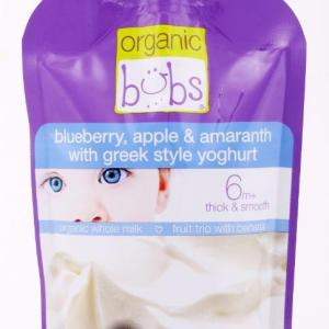 Bubs Blueberry, Apple & Amaranth with Greek Style Yoghurt 110g