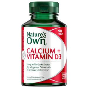 Nature's Own Calcium + Vitamin D3 Tab X 90