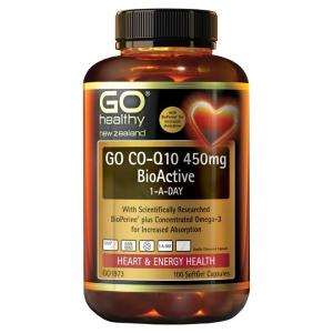 GO Healthy Go Co-Q10 450mg BioActive 1-A-Day 100 softgels