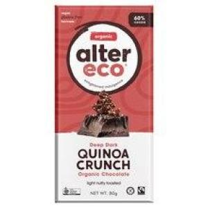 Alter Eco Chocolate Quinoa Crunch Chocolate 80gm