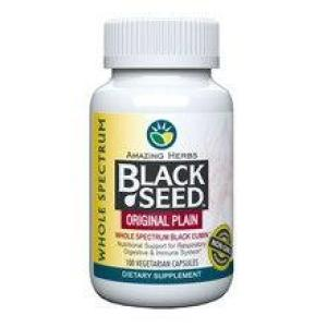 Amazing Herbs Black Seed Original Plain 100 vegecaps