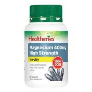 Healtheries Magnesium 400mg High Strength 60 capsules