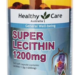 Healthy Care Super Lecithin 1200mg Cap X 100