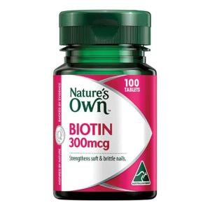 Nature's Own Biotin 300mcg Tab X 100