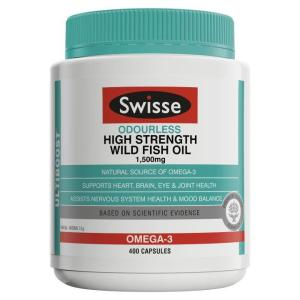 Swisse Ultiboost Odourless High Strength Wild Fish Oil 1500mg Cap X 400