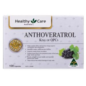 Healthy Care Anthoveratrol King of OPCs Cap X 100