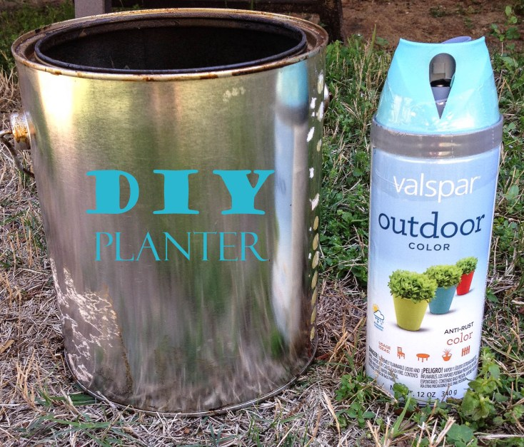 DIY Planter from Paint Can