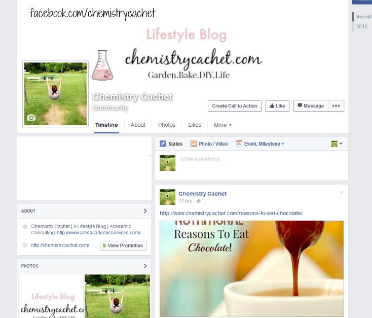 Chemistry cachet is now on facebook!