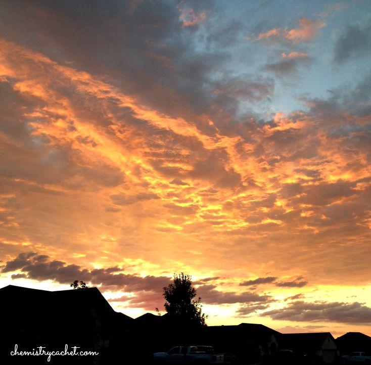 Texas Sunrise in September chemistrycachet.com