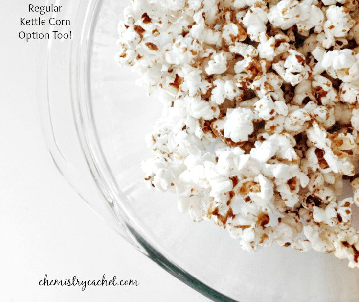 Make Your Own Microwave Cinnamon Caramel Kettle Corn, regular option too! on chemistrycachet.com
