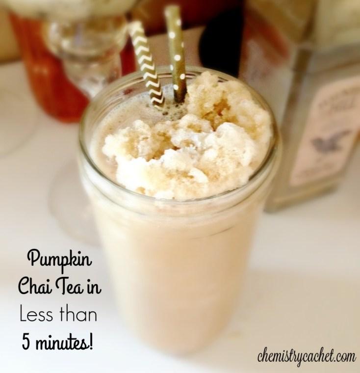 Pumpkin Chai Tea in 5 minutes! chemistrycachet.com