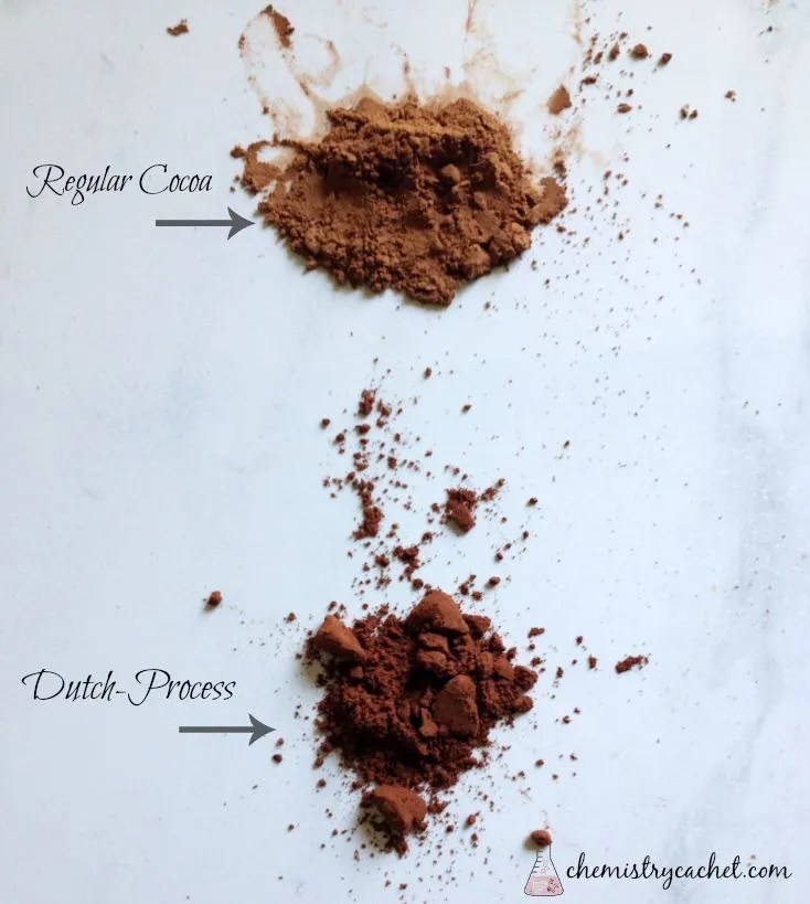 Regular Cocoa Powder vs Dutch-process on chemistrycachet.com