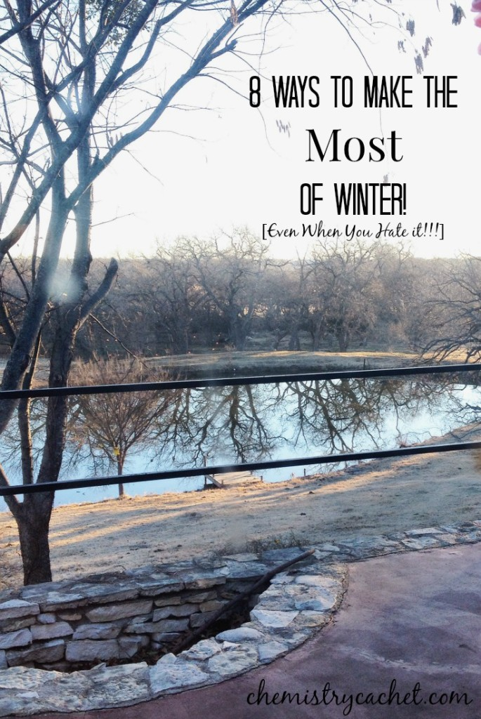 8 Ways to Make the Most of Winter...even if you hate winter, you will love these tips! It has helped me even start enjoying this season ) on chemistrycachet.com