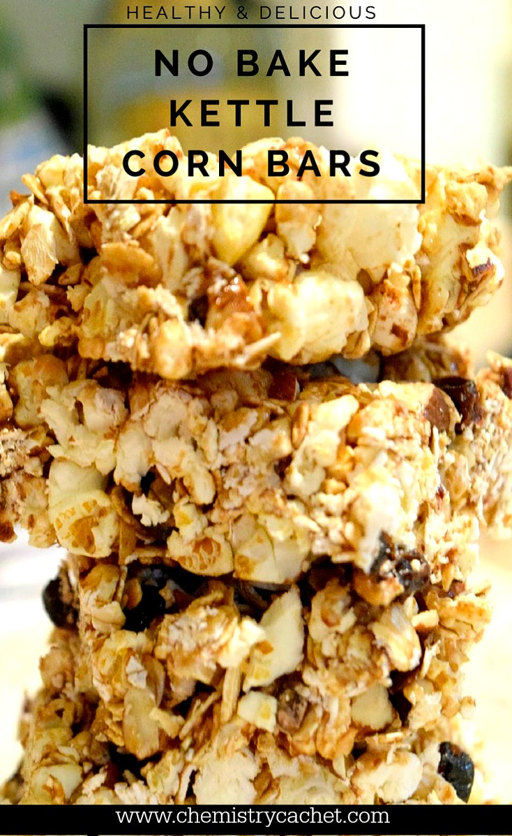 Healthy & Delicious No Bake Kettle Bars that are sweet enough to be a dessert, but also a great snack, even breakfast!