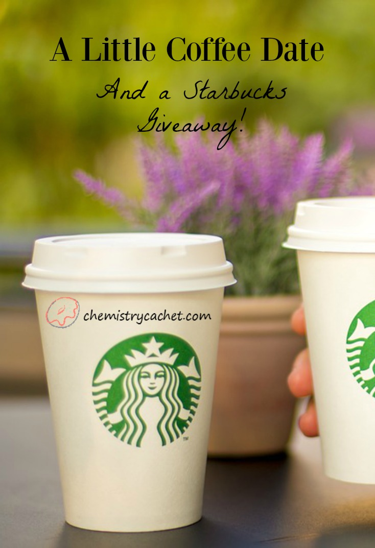 Let's have a little coffee date...and how about a Starbucks giveaway just for fun on chemistrycachet.com