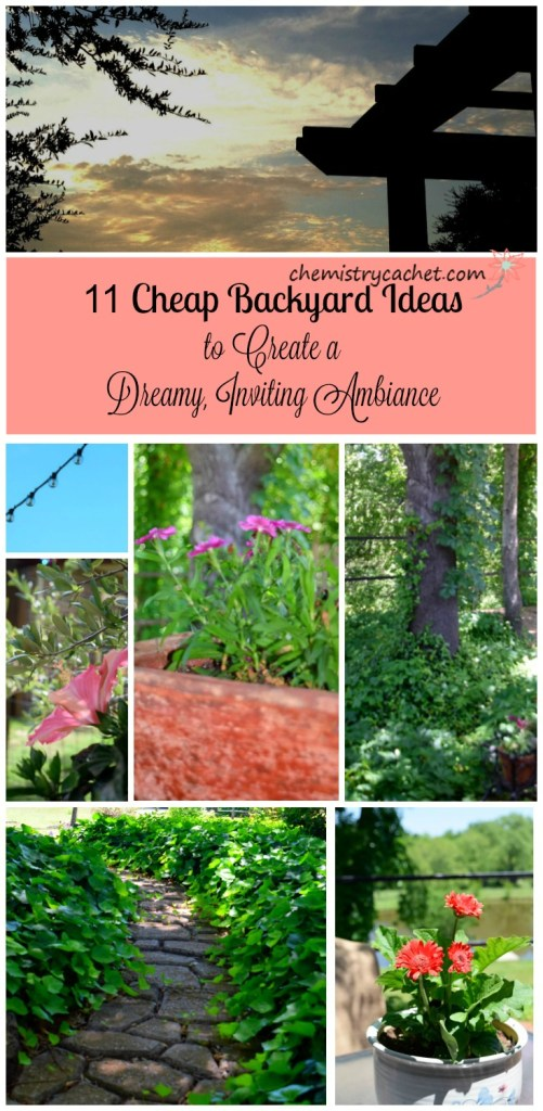 11 Cheap Backyard Ideas to Create a Dreamy, Inviting Ambiance on chemistrycachet.com