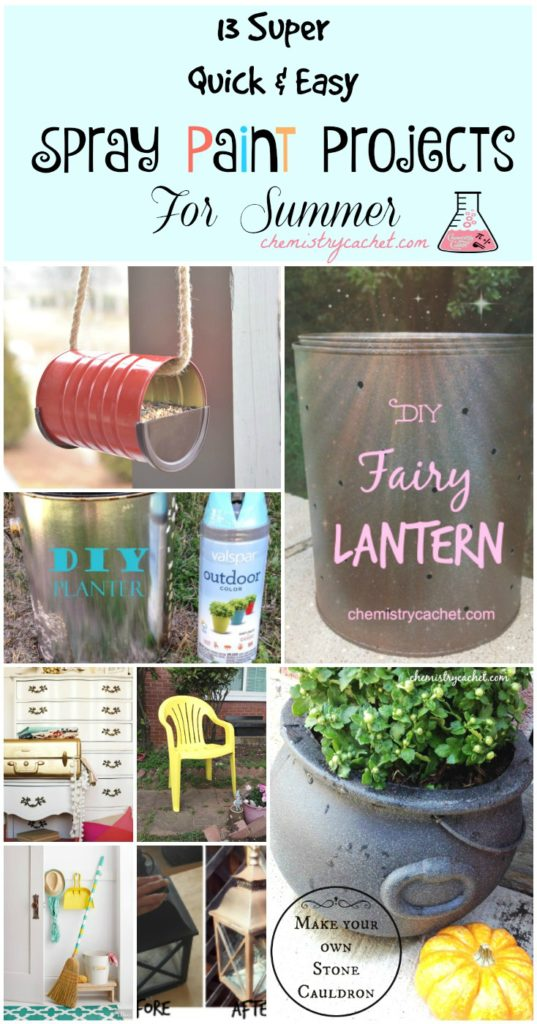13 Super Quick & Easy Spray Paint Projects For Summer on chemistrycachet.com