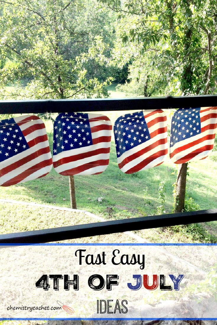 Fast Easy 4th of July Ideas! Make a banner out of paper plates! MoreCheap and cute 4th of July ideas on chemistrycachet.com that you can do LAST minute too!