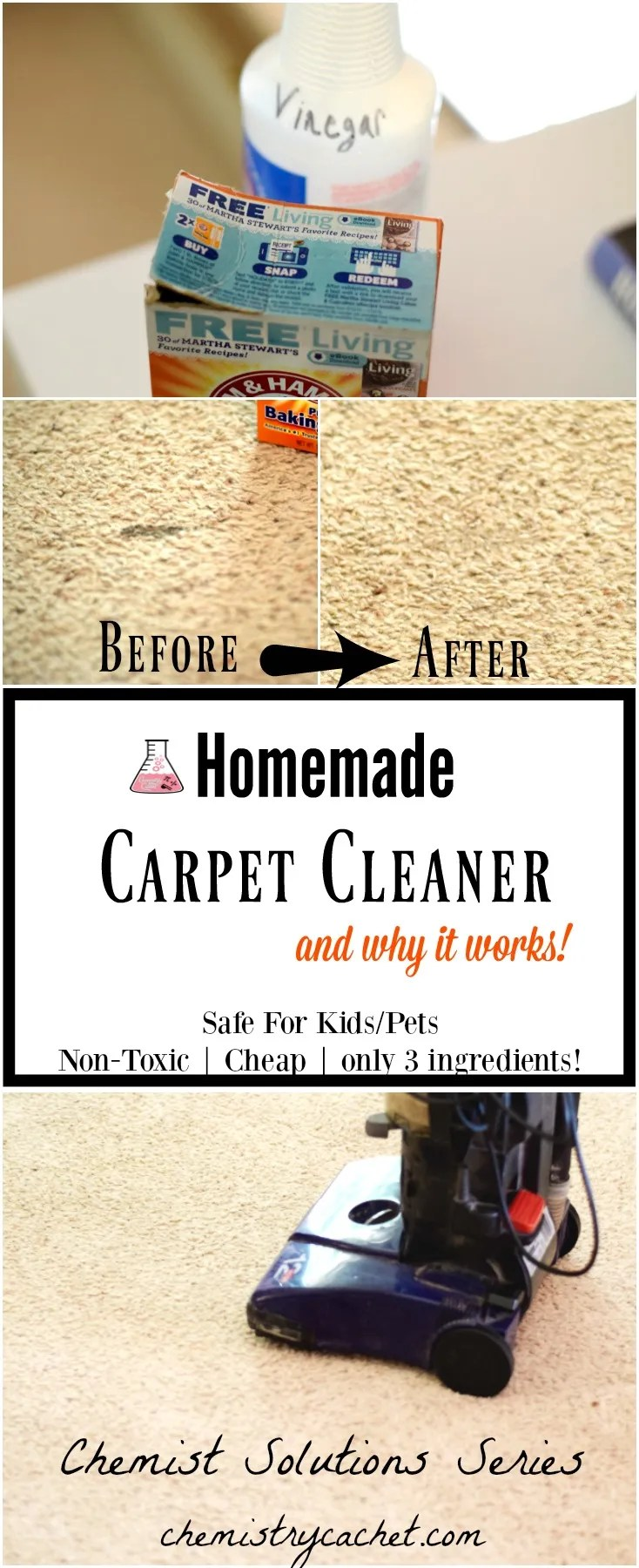 Easy homemade carpet cleaner only 3 ingredients chemistry cachets homemade carpet cleaner recipe safe easy and cheap carpet stain remover solutioingenieria Gallery