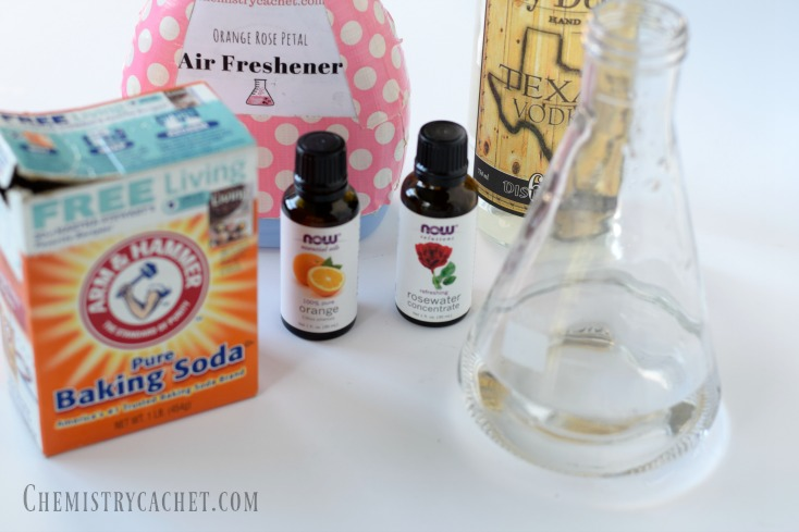 Easy Homemade Air Freshener Recipe infused with orange and rose! Find these easy steps for homemade air freshener on chemistrycachet.com