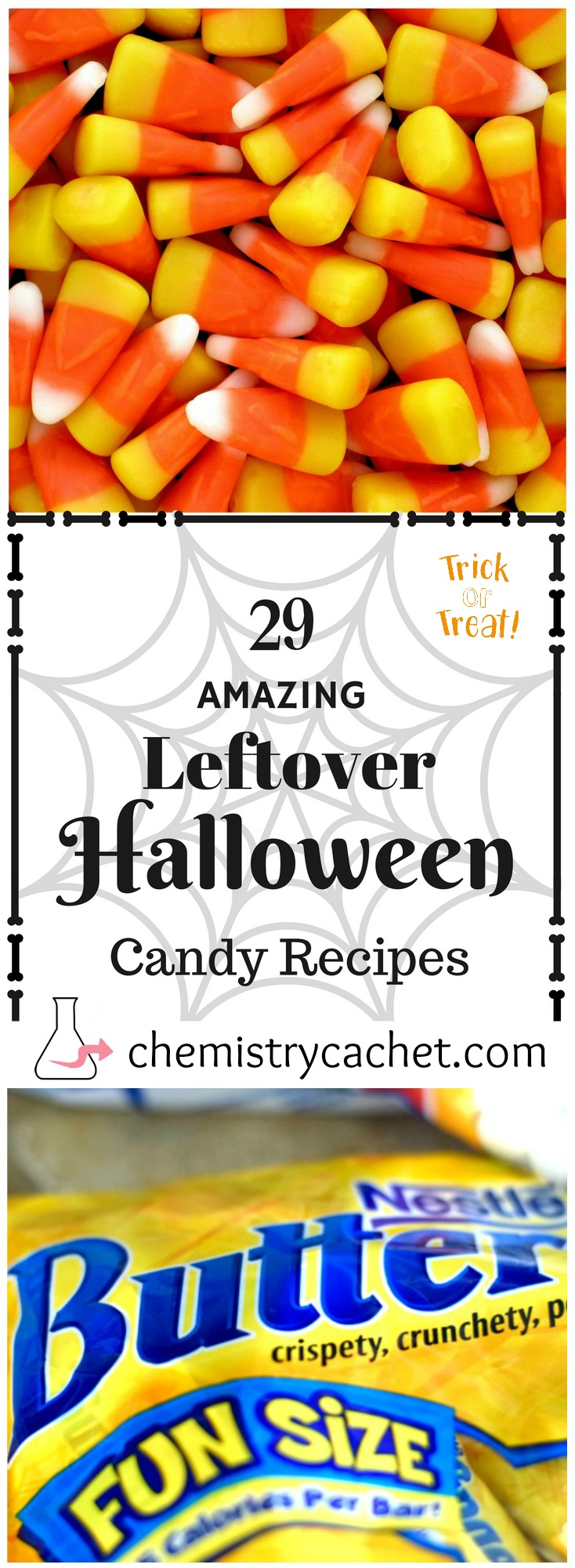 29 amazing leftover Halloween candy recipes! So many unique and fun options for everyone to enjoy on chemistrycachet.com Halloween Candy Recipes