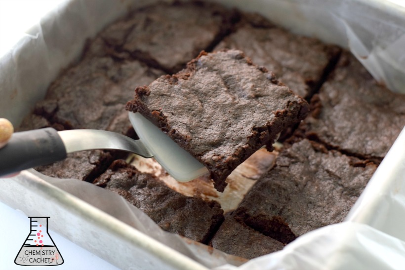 Incredibly rich and decadent dairy-free gluten-free brownies just like fudge! on chemistrycachet.com