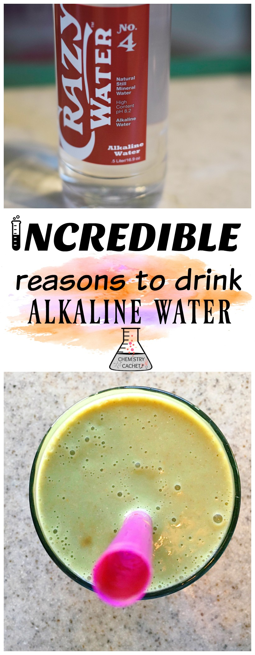 Incredibly awesome reasons to drink alkaline water. Alkaline water is so good for your health, like the CRAZY water. More on chemistrycachet.com