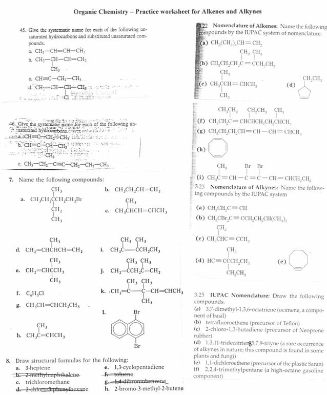 Alkane Functional Group Worksheet 1 Answers Unixpaint