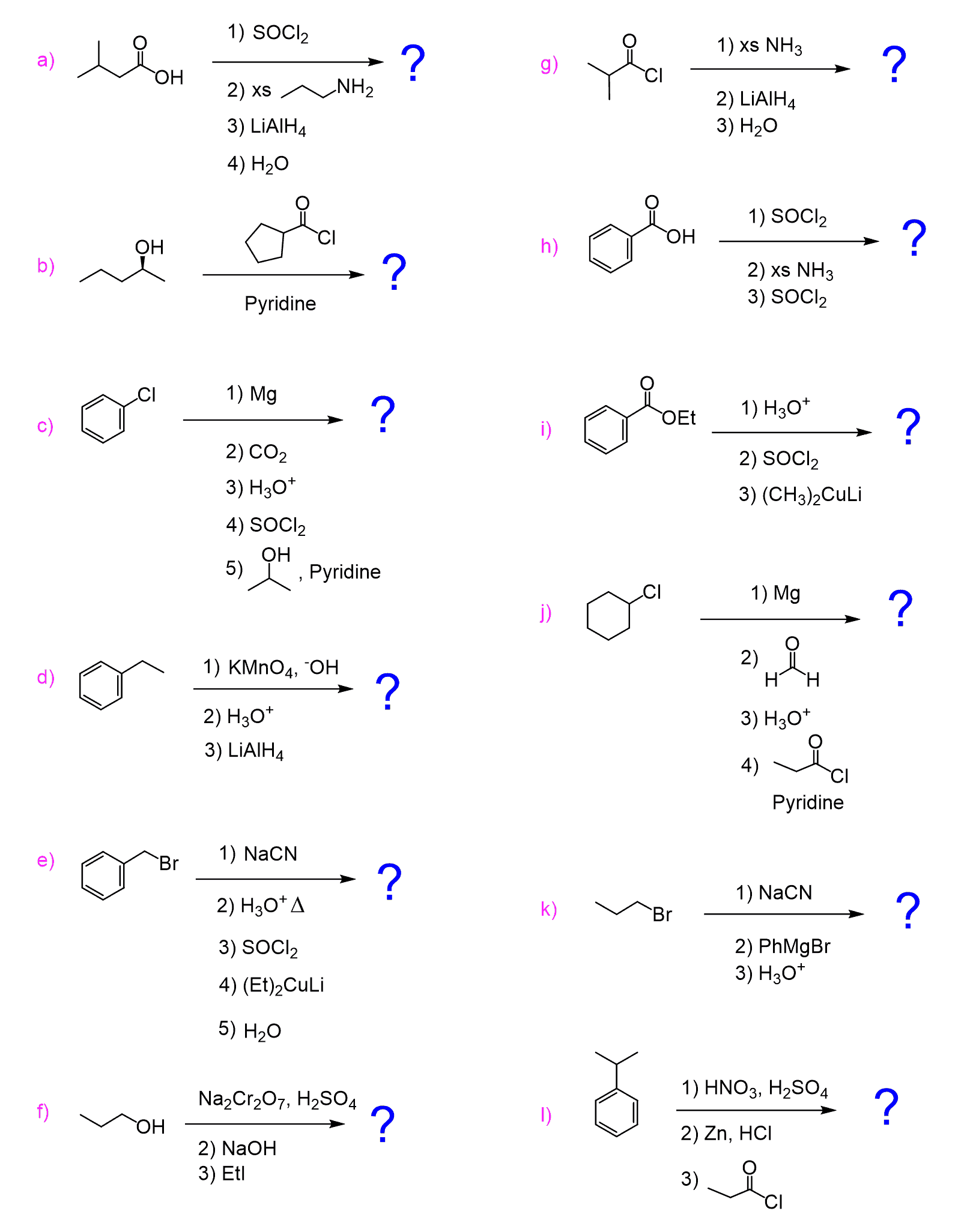 Carboxylic Acids And Their Derivatives Practice Problems