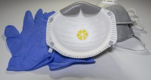 FFP2 medical masks disposable gloves corona virus