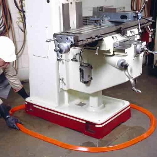 Spill Berm around machine