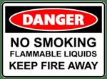 Danger flammable liquids risk