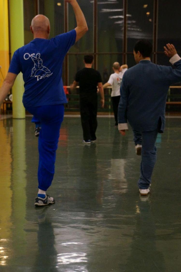 Mojster z učencem vadi gib