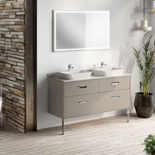 meubles de salles de bain chene vert