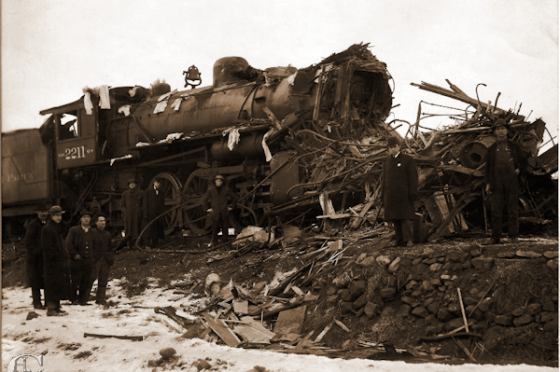 1916 Train collision