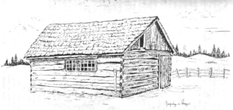 Sketch of Bassett Cabin