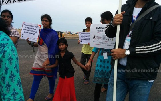 World International Girl Child Day,October 11th is the World International Girl Child Day,Marina beach, importance of a girl Child.