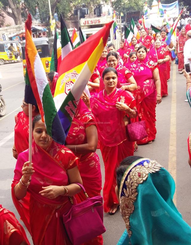 WOMENs WING AT GRAND PROCESSION AT PURASAIWALKAM