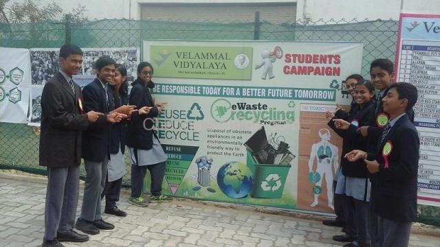E-WASTE MANAGEMENT AWARENESS CAMPAIGN CONDUCTED AT VELAMMAL