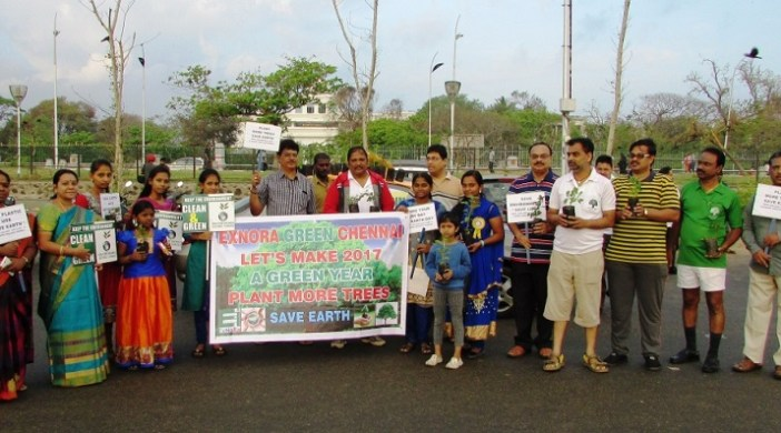 """Exnora Greater Chennai launched """"Re-Greening Chennai 2017"""""""