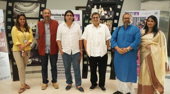 L toR Megha Ghai Puri Anjum Rajabali Subhash Ghai Aniruddha Roy Choudhary