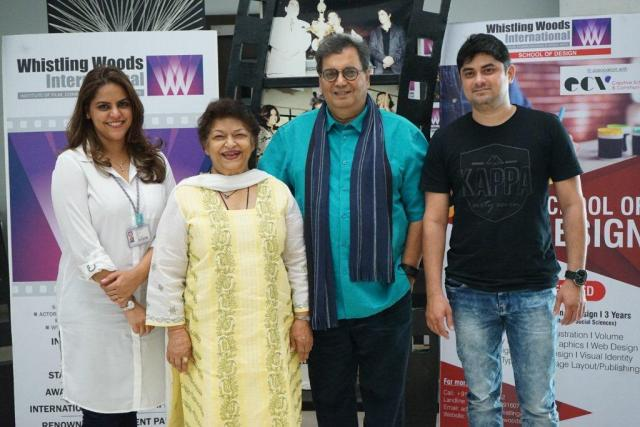 Left to Right Meghna Ghai Puri, Saroj Khan, Subhash Ghai