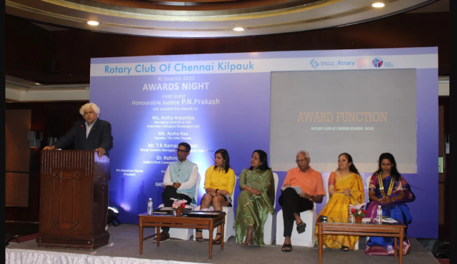 Vocational Excellence Awards presented by  Rotary Club of Chennai Kilpauk