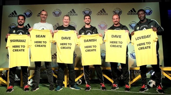Jersey unveiling by adidas at conference