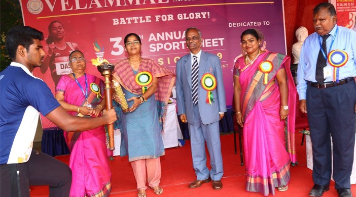 34TH ANNUAL SPORTS MEET DIMENSIONS -2019 HELD AT VELAMMAL