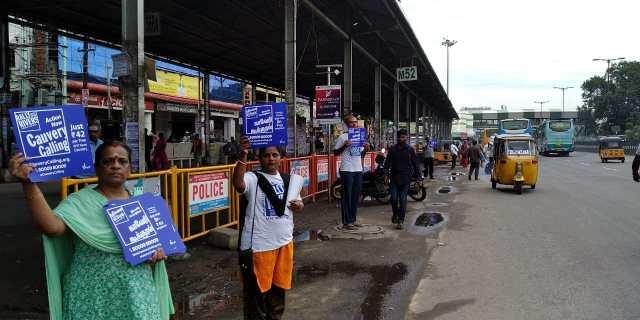 Chrompet Isha volunteers Cauvery calling