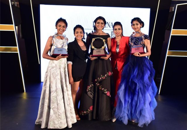 Anupama Gowda _ Spoorthi Vishwas with Winners of Femina Stylista South 2020 in BengaluruAnupama Gowda _ Spoorthi Vishwas with Winners of Femina Stylista South 2020 in Bengaluru