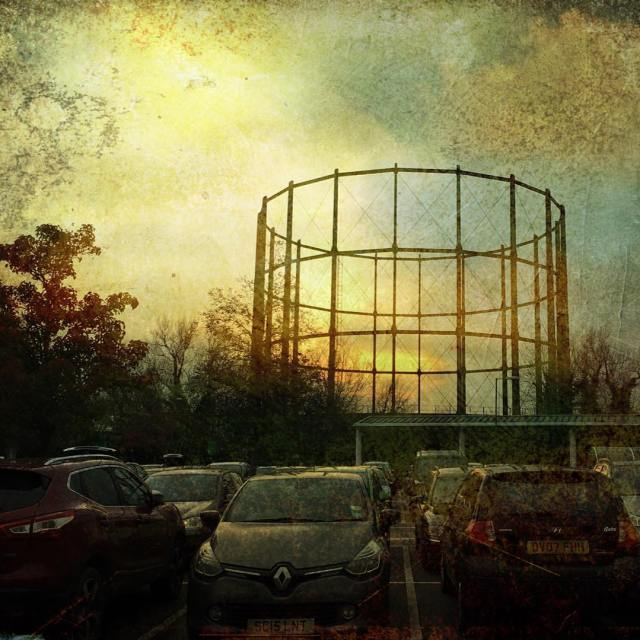 gasometer lovesalisbury sunsets november2017 grunge