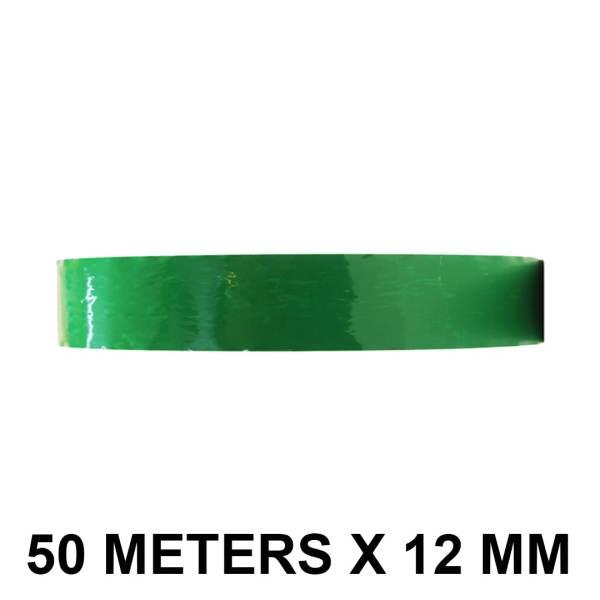 "Green Color Tape - 12mm / 0.5"" Width - 50 Meters in Length"
